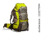 slightly used tourist backpack... | Shutterstock . vector #113277094