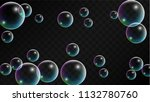 soap bubbles with rainbow... | Shutterstock .eps vector #1132780760