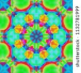 illustration of mosaic images ... | Shutterstock . vector #1132781999