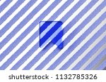 blue bookmark icon on the gray...