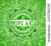 adopt a cat green emblem with... | Shutterstock .eps vector #1132786130