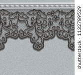 seamless denim gray canvas with ... | Shutterstock .eps vector #1132789529