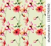floral seamless pattern ...   Shutterstock . vector #1132790540