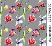 seamless wallpaper with summer... | Shutterstock . vector #1132790570