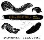 set of black ink vector stains. ... | Shutterstock .eps vector #1132794458