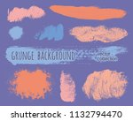 set of colorful ink vector... | Shutterstock .eps vector #1132794470