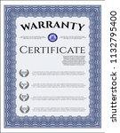 blue warranty template. perfect ... | Shutterstock .eps vector #1132795400