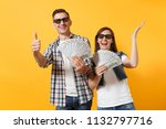 young couple woman and man in... | Shutterstock . vector #1132797716