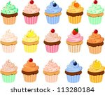 vector illustration of various... | Shutterstock .eps vector #113280184