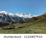 landscape of mountains and... | Shutterstock . vector #1132807910