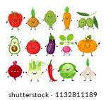 funny cartoon set of different... | Shutterstock .eps vector #1132811189