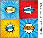 comic book wordings collection... | Shutterstock .eps vector #1132811270