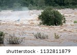 water flood on river after... | Shutterstock . vector #1132811879