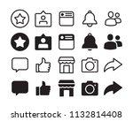 icon set. logo  design ... | Shutterstock .eps vector #1132814408