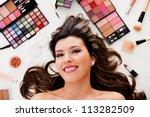 beauty portrait of a woman... | Shutterstock . vector #113282509
