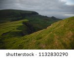green mountains of quiraing  on ... | Shutterstock . vector #1132830290