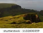 green mountains of quiraing  on ... | Shutterstock . vector #1132830359