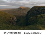 green mountains of quiraing  on ... | Shutterstock . vector #1132830380