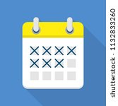 marked calendar icon. flat... | Shutterstock . vector #1132833260