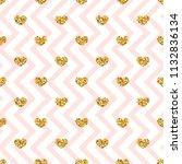 gold heart seamless pattern.... | Shutterstock .eps vector #1132836134