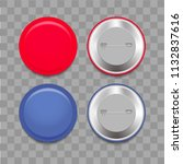 realistic blue and red badge... | Shutterstock .eps vector #1132837616