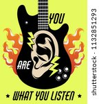 you are what you listen. vector ... | Shutterstock .eps vector #1132851293