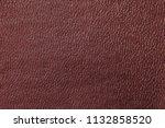 burgundy leather pattern | Shutterstock . vector #1132858520