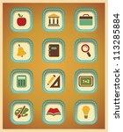 icons set school | Shutterstock .eps vector #113285884