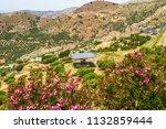 field of solar panel energy...   Shutterstock . vector #1132859444