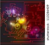 abstract hi tech electronic... | Shutterstock .eps vector #113286409