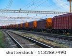 railroad infrastructure during... | Shutterstock . vector #1132867490