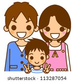 mother father son | Shutterstock . vector #113287054