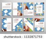 set of a4 cover  abstract... | Shutterstock .eps vector #1132871753
