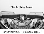words have power typed words on ... | Shutterstock . vector #1132871813