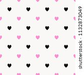 black heart pattern on red and...   Shutterstock . vector #1132873049