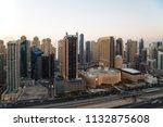 dubai skyscrapers. dubai marina ... | Shutterstock . vector #1132875608