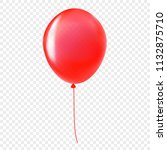 red helium balloon isolated on... | Shutterstock .eps vector #1132875710