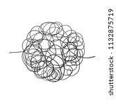 hand drawn scrawl sketch. ... | Shutterstock .eps vector #1132875719