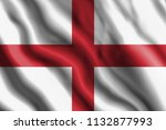 the realistic flag of england | Shutterstock . vector #1132877993