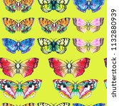 butterfly watercolor... | Shutterstock . vector #1132880939