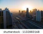 dubai skyscrapers. dubai marina ... | Shutterstock . vector #1132883168