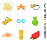 holiday money icons set.... | Shutterstock . vector #1132883990