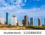 cityscape of houston in late... | Shutterstock . vector #1132886303