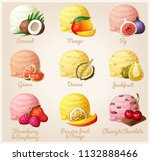 set of cartoon icons. ice cream ... | Shutterstock . vector #1132888466