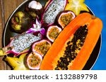 close up picture of plate with... | Shutterstock . vector #1132889798