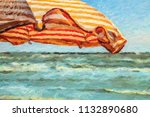 impressionist illustration of... | Shutterstock . vector #1132890680