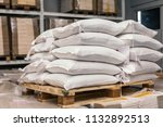 Sacks Of Flour On Pallets In...