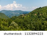 mountainous landscape with... | Shutterstock . vector #1132894223