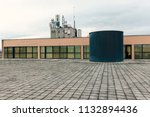 water tank on the flat roof | Shutterstock . vector #1132894436