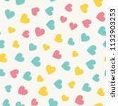 seamless hearts pattern with... | Shutterstock .eps vector #1132903253